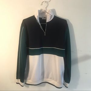 Topman Half Zip Long Sleeve Light Weight Sweater L